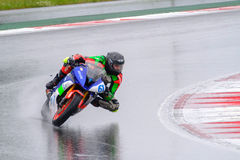 Motorcycle Race Cup Moscow Region Governor. MOSCOW - JUNE 5: Unidentified rider participates in the Race Cup Moscow Region Governor on June 5, 2016 in Moscow stock images