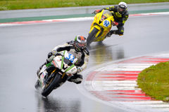 Motorcycle Race Cup Moscow Region Governor. MOSCOW - JUNE 5: Unidentified rider participates in the Race Cup Moscow Region Governor on June 5, 2016 in Moscow stock photo