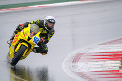 Motorcycle Race Cup Moscow Region Governor. MOSCOW - JUNE 5: Unidentified rider participates in the Race Cup Moscow Region Governor on June 5, 2016 in Moscow royalty free stock image