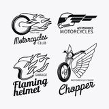 Motorcycle race logo set Royalty Free Stock Images