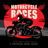 Motorcycle race poster Royalty Free Stock Photo