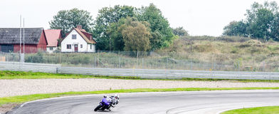Motorcycle race. In Sturup Sweden, 7s sept 2014 royalty free stock photography