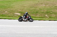 Motorcycle race. In Sturup Sweden, 7s sept 2014 stock photos