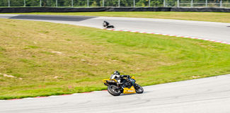 Motorcycle race. In Sturup Sweden, 7s sept 2014 royalty free stock image