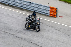Motorcycle race. In Sturup Sweden, 7s sept 2014 stock image