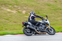 Motorcycle race. In Sturup Sweden, 7s sept 2014 royalty free stock photos