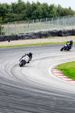 Motorcycle race. In Sturup Sweden, 7s sept 2014 stock photography