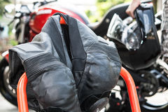 Motorcycle race suit Royalty Free Stock Photos