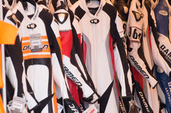 Motorcycle Race Suits Stock Image