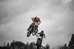 The motorcycle race. Summer of 2017 year. The russian national championship stock photos
