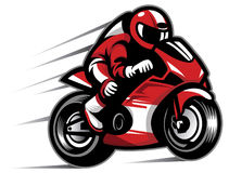 Motorcycle race. Vector of man race using a motorcycle Royalty Free Stock Image