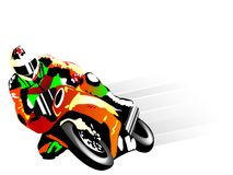 Motorcycle racer Stock Photo