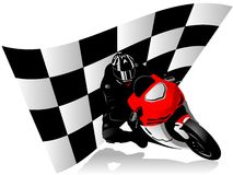 Motorcycle racer Royalty Free Stock Images