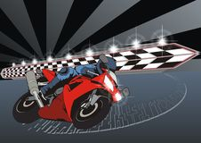 Motorcycle racer Royalty Free Stock Image