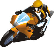 Motorcycle racer. Vector illustration of a motorcycle racer Stock Image