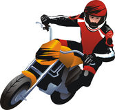 Motorcycle racer. Vector illustration of a motorcycle racer Stock Photos