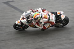 Motorcycle racer in action Stock Image