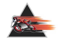 Motorcycle racer illustration Stock Images