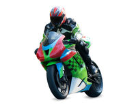 Motorcycle racer Royalty Free Stock Photo