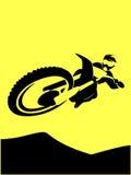 Motorcycle racer motocross Stock Photos