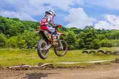 Motorcycle racer Stock Images
