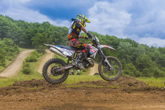 Motorcycle racer Stock Photography