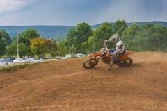 Motorcycle racer Stock Image