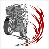 Motorcycle racer sport Stock Images