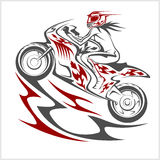 Motorcycle racer sport Stock Photography