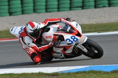 Motorcycle racer Stock Photos