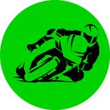 Motorcycle racer vector speed round icon eps vector illustration