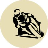 Motorcycle racer vector. Motorcycle racer on sportbike Vector illustration Royalty Free Stock Photography