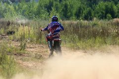 Motorcycle racers in the competition in the city of Bor. Russia. 10 august 2014 year stock photography