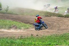 Motorcycle racers Stock Image