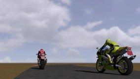 Motorcycle races Stock Photo