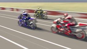 Motorcycle races Stock Photos