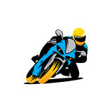 Motorcycle races  sign Stock Photo