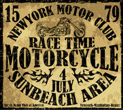 Motorcycle raceway typography, t-shirt graphics, vectors Royalty Free Stock Photo