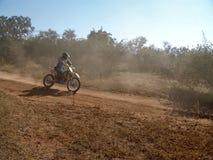 Motorcycle racing. In kalahari desert stock photos