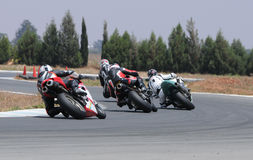 Motorcycle racing Royalty Free Stock Images