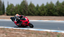 Motorcycle racing Stock Images