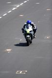 Motorcycle racing. Motorcycle on a race track royalty free stock images