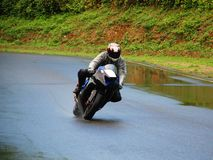 Motorcycle Racing. Super Sport Motorcylce Race Bike Royalty Free Stock Photos