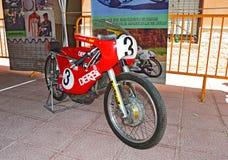 Motorcycle Racing Bike Classic Derbi 125 Royalty Free Stock Image