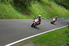 Motorcycle Racing, Cock o' the North, Oliver's Mount Stock Photos