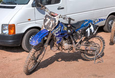 Motorcycle racing after the competition in motocross Royalty Free Stock Photo