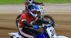 Motorcycle racing competition Stock Photos