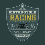 Motorcycle Racing emblem, t-shirt Royalty Free Stock Photos
