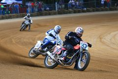 Motorcycle racing event action Royalty Free Stock Images