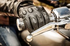 Motorcycle Racing Gloves Stock Images